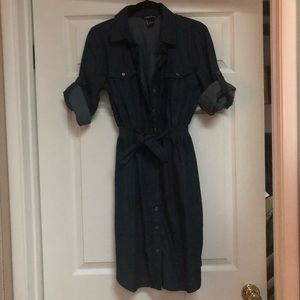 NWT denim dress with elastic waist